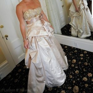 Monique Luhlier wedding corset and skirt